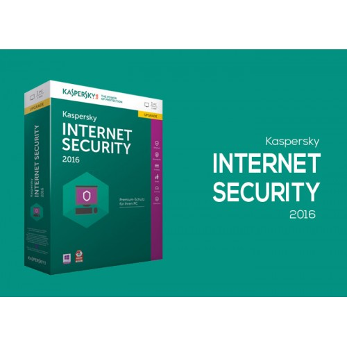 Kaspersky Internet Security 2016, 1PC 1Year
